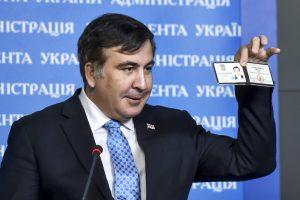 Gruzijos eksprezidentui negaliojantis pasas užkirto kelią į Ukrainą