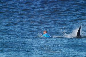 Užkibusi žuvis nutempė australą į ryklių pilnus vandenis