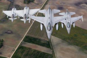 Virš Estijos – NATO naikintuvų treniruotės