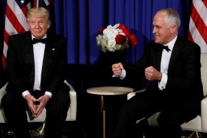 Net Australijos premjeras šaiposi iš D. Trumpo