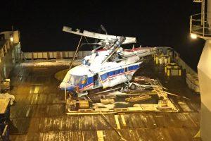 Iš Arkties vandenyno iškeltas sudužęs rusų sraigtasparnis
