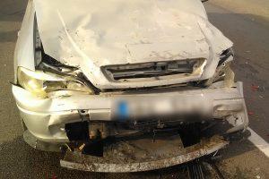 Skaudi avarija Alytaus rajone: koją pakišo viršytas greitis