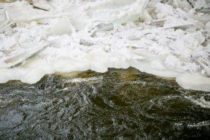 Įspėja: ties Kaunu Neryje susiformavo ledų sangrūda