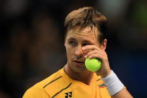 Traumuotas R. Berankis nepateko į turnyro Taškente ketvirtfinalį