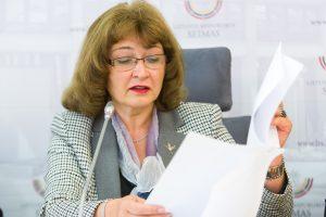 R. Baškienė: parlamentinei veiklai skiriamos išlaidos nedidės
