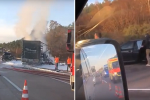 Vokietijoje – didžiulė avarija, į kurią pakliuvo ir BMW ekipažas iš Lietuvos
