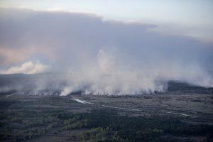 Černobylyje toliau dega miškai