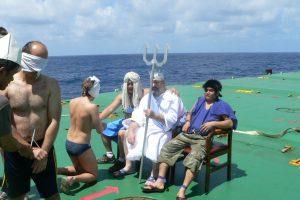 Krikštynų tradicijos laivuose neblėsta