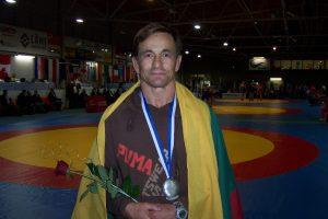 N. Ilkevičius pasaulio veteranų imtynių čempionate užėmė trečią vietą