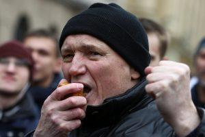 Baltarusijos opozicijos veikėjas suimtas dėl dalyvavimo protestuose prieš vyriausybę