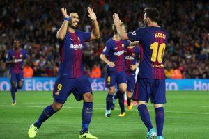 Barselonos derbyje – trys L. Messi įvarčiai ir O. Dembele debiutas