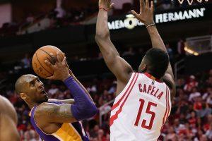 """Rockets"" su D. Motiejūnu nugalėjo ""Lakers"" krepšininkus"
