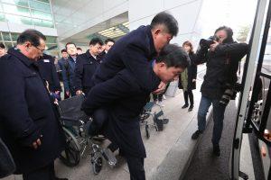 Šiaurės Korėjos atletai atvyko į Pjongčango parolimpiadą