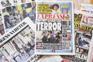 Švedijoje areštuoti trys asmenys, įtariami teroro akto rengimu