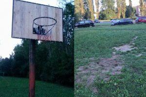 Klaipėdiečiai siunta: liko be naujos krepšinio lentos