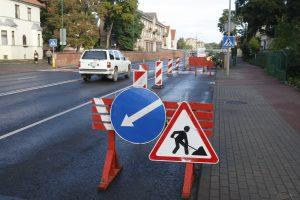 Dėl gatvės remonto – spūstys