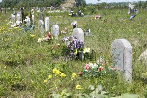 Ant bedalių kapų – kuklūs paminklai