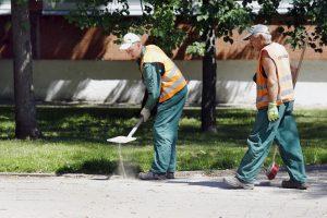 Statybininkai mieste panaikino spąstus