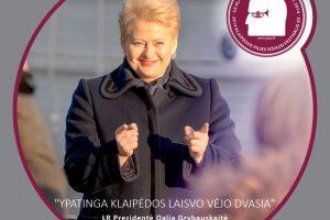 Džiazuojančiai Klaipėdai - Prezidentės D.Grybauskaitės sveikinimai