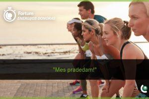 Sportuojantys žmonės sukauptą energiją skirs Klaipėdos universitetui