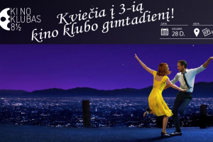 """Kino klubui """"8 ½"""" – treji"""