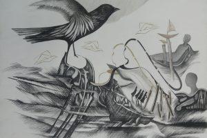 P. Domšaičio galerijoje atidaroma R. Baukaitės grafikos paroda