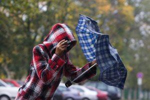 Gyventojai perspėjami saugotis vėjo