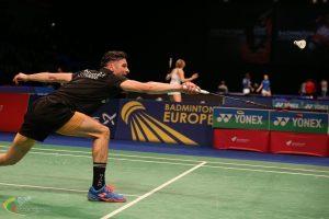 K. Navickas Europos badmintono čempionate užėmė 9 vietą