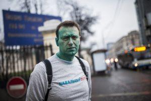 Rusijos opozicijos lyderis A. Navalnas vėl apipiltas briliantine žaluma