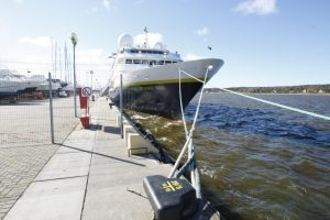 Klaipėdoje prisišvartavo itin prabangus laivas