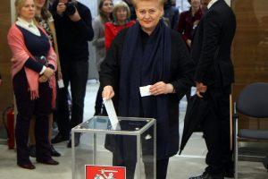 Prezidentė: Seimo rinkimai parodė, kad žmonės pavargo nuo skandalų