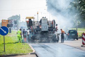 Už gatvių asfaltavimą Kaunas mokės dukart mažiau