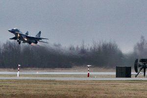 Oro policijos naikintuvai praėjusią savaitę dukart lydėjo rusų bombonešius