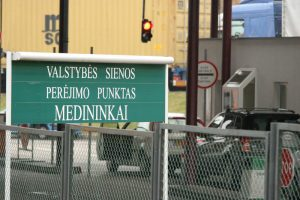 Dėl kelio remonto Baltarusijoje galimi eismo ribojimai per Medininkų punktą