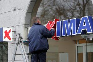 """Vilniaus centre parduotuvėje """"Maxima"""" įgriuvo lubos"""
