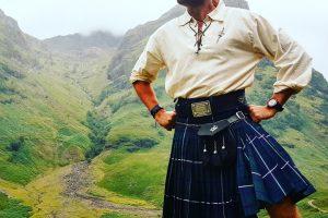 Su škotišku kiltu lietuvis jaučiasi it kalnietis