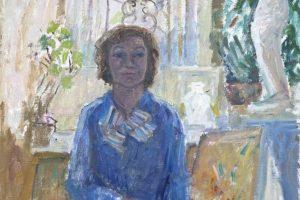 Nupūtė dulkes nuo dailininkės V. Juškienės portretų