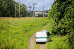 Kaune traukinys kliudė neblaivią moterį, bandžiusią išgelbėti savo šunį