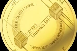 Auksinė moneta įamžins lietuviškosios kosmoso istorijos pradžią