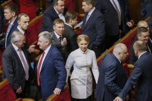Ukrainos valdančiąją koaliciją palieka J. Tymošenko partija