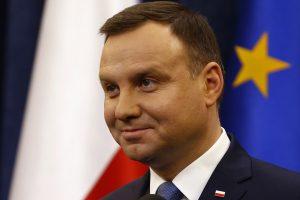 Lenkijos prezidento automobilis Krokuvoje pakliuvo į avariją