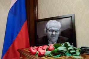 Maskva ir Kijevas susiginčijo dėl velionio Rusijos ambasadoriaus JT pagerbimo