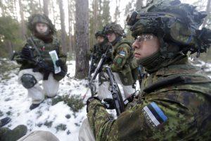Estijos ir JAV kariai treniruosis kariauti žiemos sąlygomis