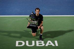 A. Murray'us Dubajuje iškovojo 45 savo karjeros titulą
