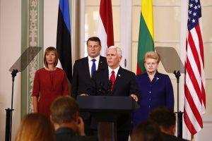 M. Pence'as: JAV palaiko ir visada palaikys Baltijos šalis