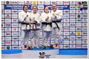 Dziudo kovotoja J. Kmieliauskaitė iškovojo bronzos medalį