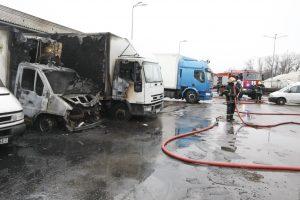 Klaipėdoje vienu metu degė trys automobiliai