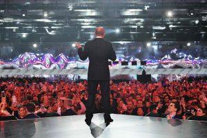 Ragindamas rusus balsuoti V. Putinas primena apie meilę tėvynei