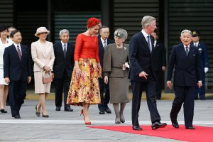 Belgijos karalius ir karalienė vieši Japonijoje