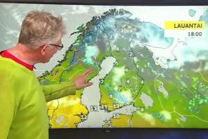 Kaip į pavasario orus reaguoja suomiai: pranešėjas prapliupo juokais